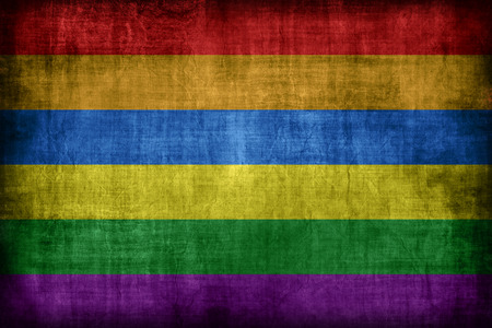 gay flag: Ukraine Gay flag pattern, retro vintage style