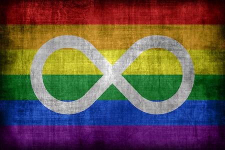 metis: Metis Rainbow flag pattern, retro vintage style