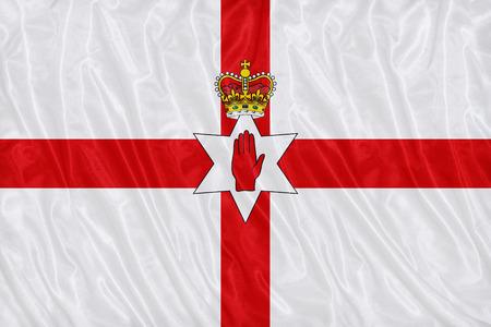 生地の風合い、ビンテージ スタイルの北アイルランドの旗パターン