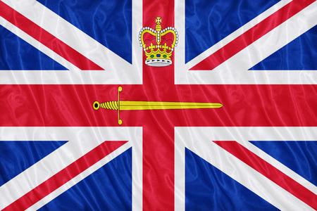 lieutenant: United Kingdom Lord Lieutenant flag pattern on the fabric texture ,vintage style