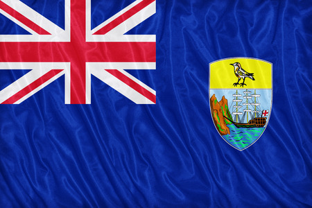 helena: Saint Helena Island flag pattern on the fabric texture ,vintage style