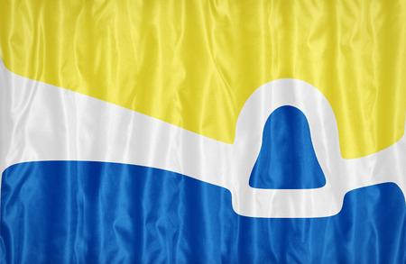 california flag: San Luis Obispo ,California flag pattern on fabric texture, vintage style