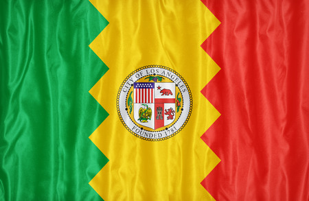 california flag: Los Angeles ,California flag pattern on fabric texture, vintage style