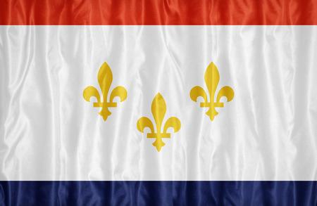 louisiana flag: New Orleans ,Louisiana flag pattern on fabric texture,retro vintage style