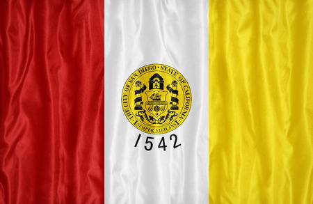 california flag: San Diego ,California flag pattern on fabric texture, vintage style