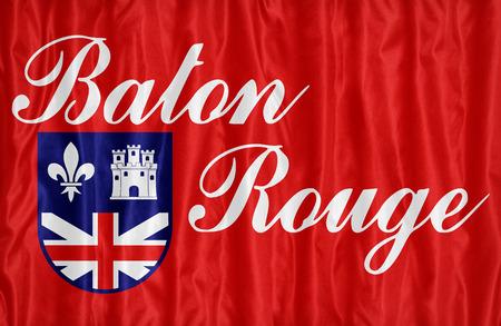 louisiana flag: Baton Rouge ,Louisiana flag pattern on fabric texture,retro vintage style