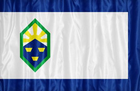 colorado flag: Colorado Springs ,Colorado flag pattern on fabric texture,retro vintage style