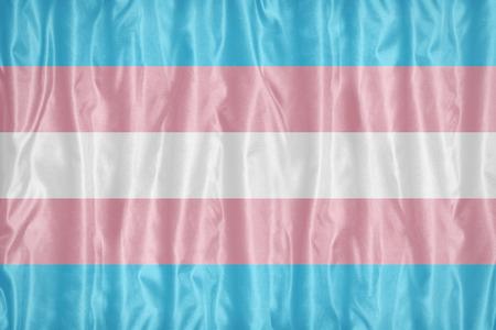 布のテクスチャ、レトロなビンテージ スタイルのトランスジェンダー プライドの旗パターン