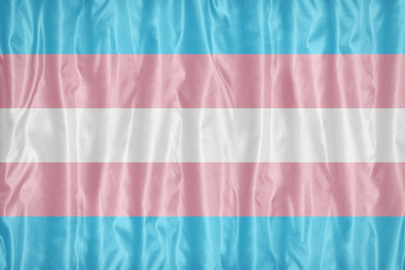 Transgender Pride flag pattern on fabric texture,retro vintage style