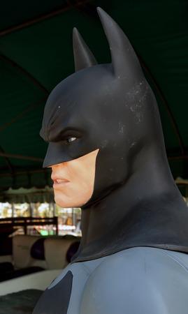 batman: AYUTTAYA,THAILAND - JULY 11, 2015 : Batman model at Thung Bua Chom floating market