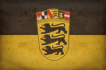 baden wurttemberg: Baden Wurttemberg flag pattern on fabric texture,retro vintage style Stock Photo