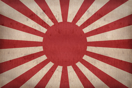 Imperial Japanes Army flag pattern on fabric texture,retro vintage style