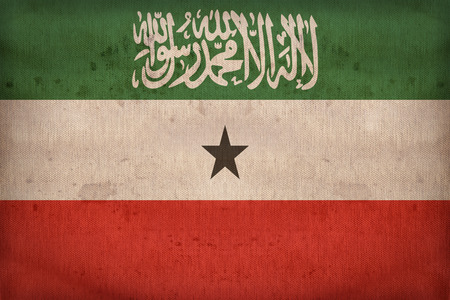Somaliland flag pattern on fabric texture,retro vintage style