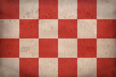 North Brabant flag pattern on fabric texture,retro vintage style