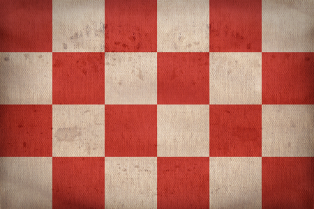 north brabant: North Brabant flag pattern on fabric texture,retro vintage style