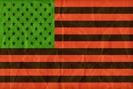 african america: African America flag pattern on paper texture,retro vintage style