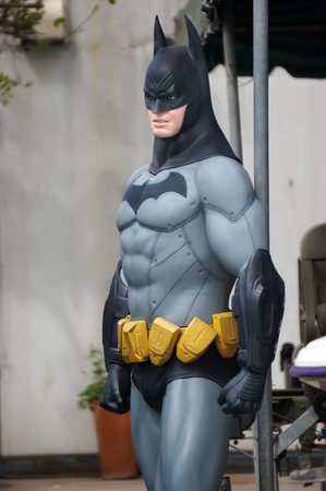 batman: AYUTTAYA,THAILAND - OCTOBER 10, 2015 : Batman model at Thung Bua Chom floating market