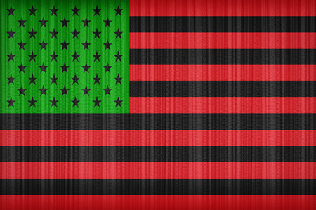 african america: African America flag pattern on the fabric curtain, vintage style Stock Photo
