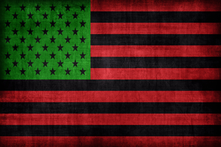 african america: African America flag pattern, retro vintage style