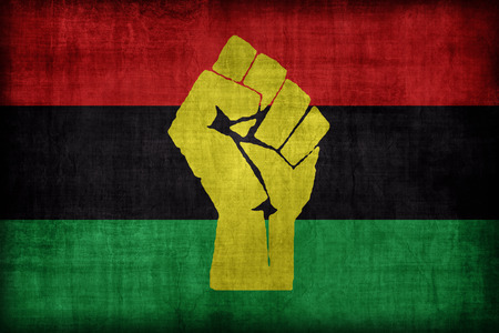 african solidarity: African Resistance and Solidarity flag pattern, retro vintage style Stock Photo
