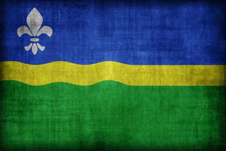 flevoland: Flevoland flag pattern , retro vintage style