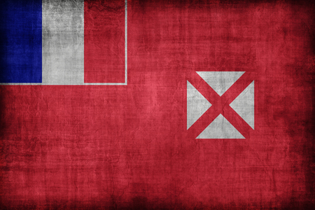 wallis: Wallis and Futuna flag pattern, retro vintage style Stock Photo