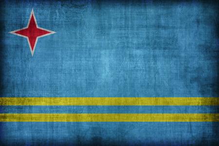 aruba flag: Aruba flag pattern , retro vintage style Stock Photo