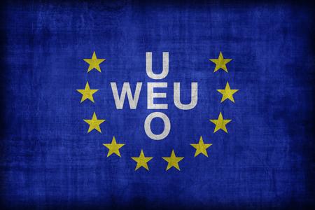 western european: Western European Union flag pattern , retro vintage style Stock Photo