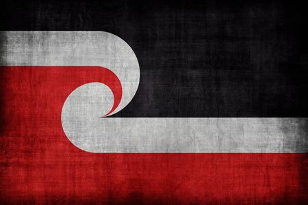 maories: Patr�n de la bandera Tino Rangatiratanga maor�es Movimiento Soberan�a, estilo retro de la vendimia Foto de archivo