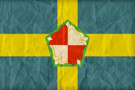 pembrokeshire: Pembrokeshire flag pattern on paper texture,retro vintage style