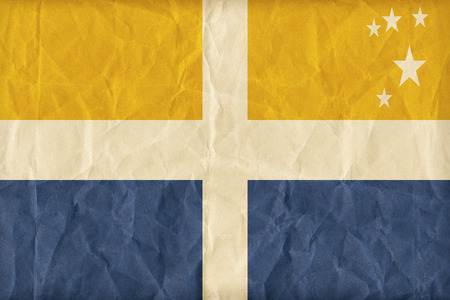 isles: The Isles of Scilly flag pattern on paper texture,retro vintage style Stock Photo