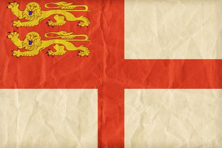 sark: Sark flag pattern on paper texture,retro vintage style