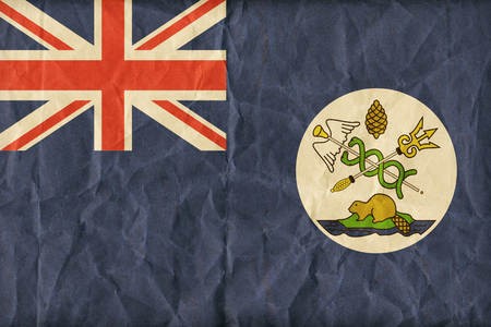 canadian state flag: Vancouver Island flag pattern on paper texture,retro vintage style
