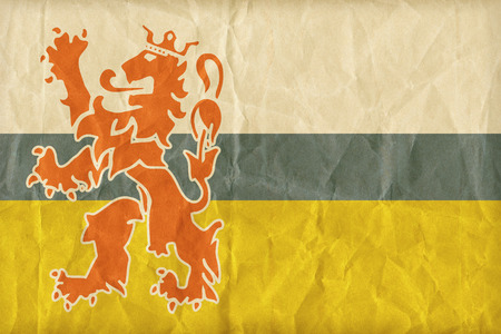 limburg: Limburg flag pattern on paper texture,retro vintage style