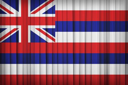 hawaii flag: Hawaii flag pattern on the fabric curtain,vintage style