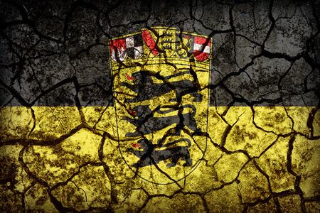 baden wurttemberg: Baden Wurttemberg flag pattern on crack soil texture,retro vintage style
