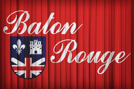 louisiana flag: Baton Rouge ,Louisiana flag pattern on the fabric curtain,vintage style