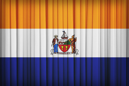 albany: Albany ,New York flag pattern on the fabric curtain,vintage style