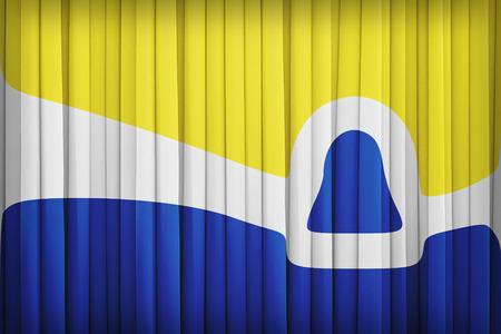 california flag: San Luis Obispo ,California flag pattern on the fabric curtain,vintage style