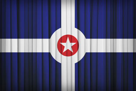 indianapolis: Indianapolis ,Indiana flag pattern on the fabric curtain,vintage style Stock Photo