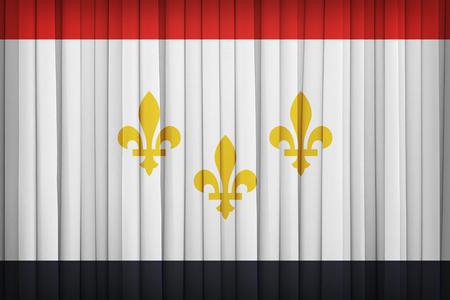 louisiana flag: New Orleans ,Louisiana flag pattern on the fabric curtain,vintage style Stock Photo