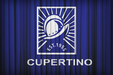 california flag: Cupertino ,California flag pattern on the fabric curtain,vintage style