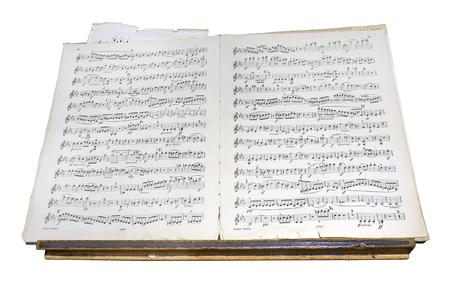 music score: Antique music score