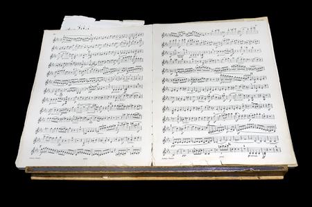 partition musique: partition Antique Banque d'images