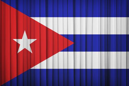 cuba flag: Cuba flag pattern on the fabric curtain,vintage style