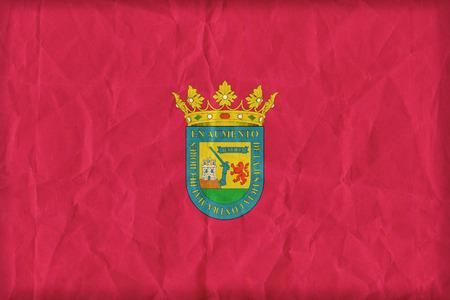 alava: Alava flag on paper texture,retro vintage style Stock Photo
