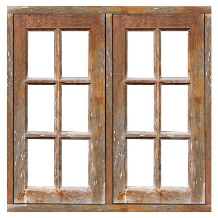 古い木製の窓