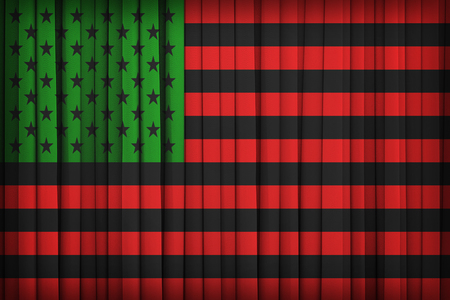 african america: African America flag on the fabric curtain,vintage style