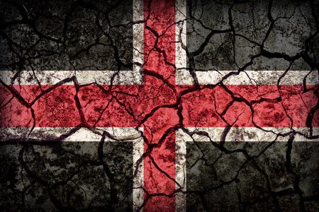 durham: Durham flag pattern on crack soil texture,retro vintage style