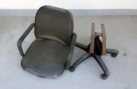 damaged: damaged chairs Stock Photo